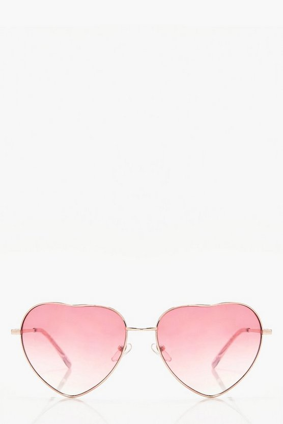 Ellie Heart Pink Lens Sunglasses