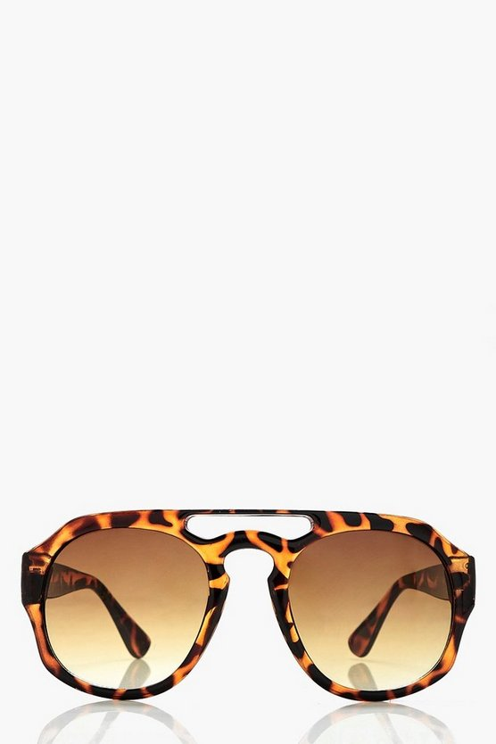 Megan Tortoiseshell Bridge Sunglasses