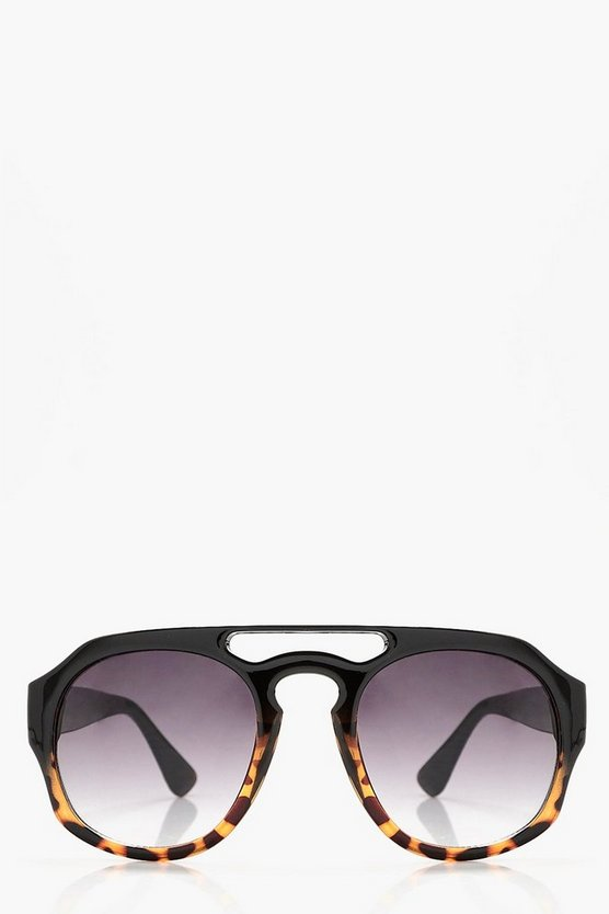 Amber Ombre Bridge Sunglasses