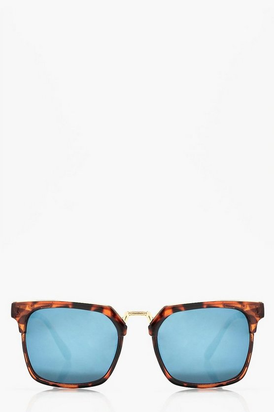 Eliza Blue Tort Square Frame Sunglasses