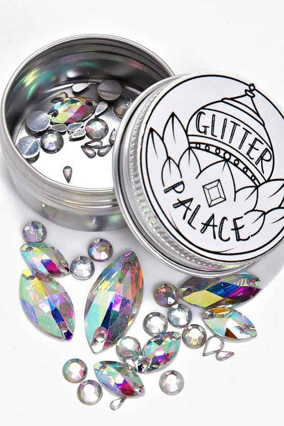 Glitter Palace Loose Silver Festival Face Gems