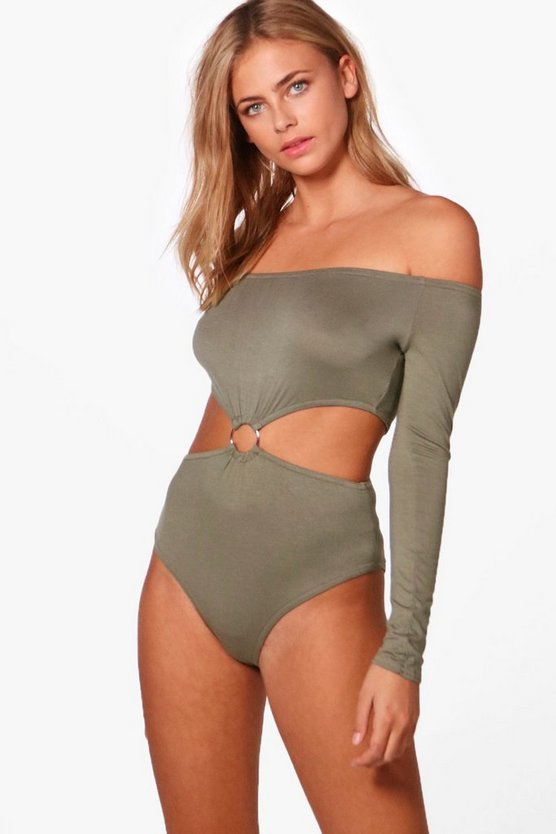 Faith Ring Detail Off The Shoulder Bodysuit