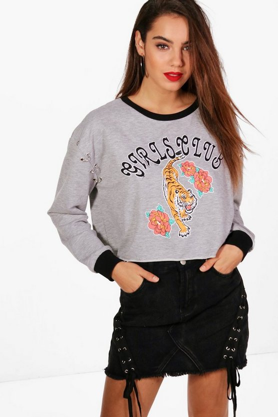 Oriental Ring Detail Sweatshirt