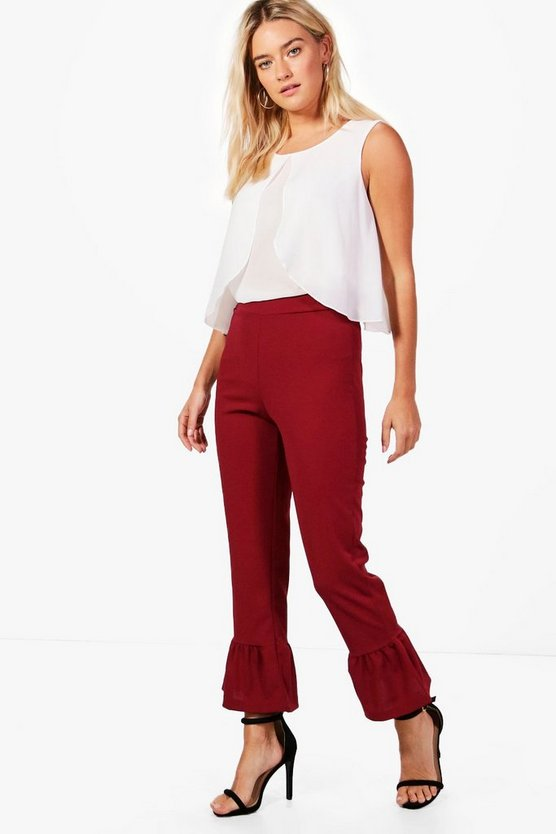Frill Hem Tailored Trouser
