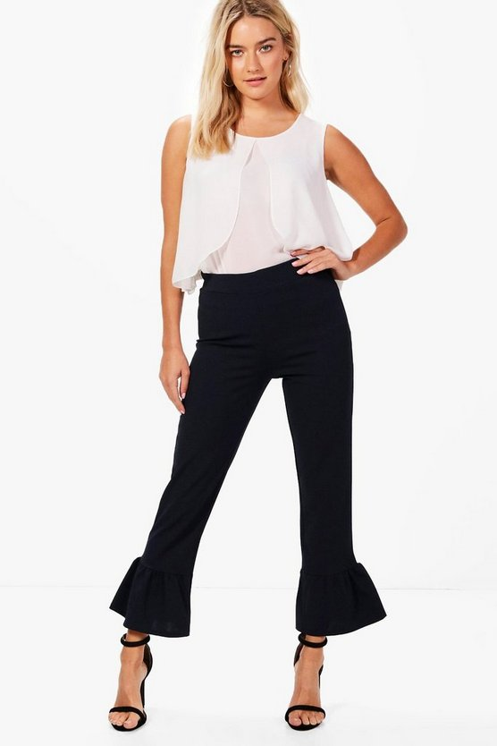 Ivy Frill Hem Tailored Trouser