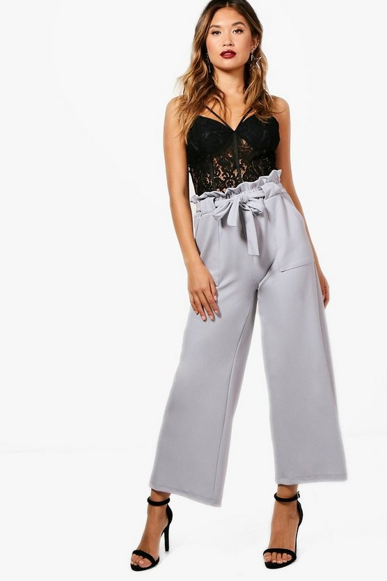 Hailey Wide Leg Paperwaist Trouser