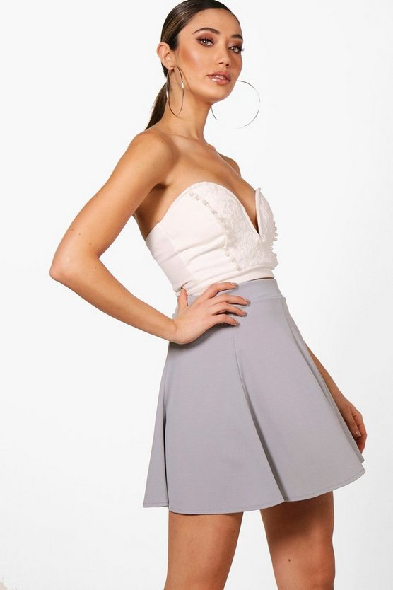 Hannah Tailored Panelled Skater Skirt