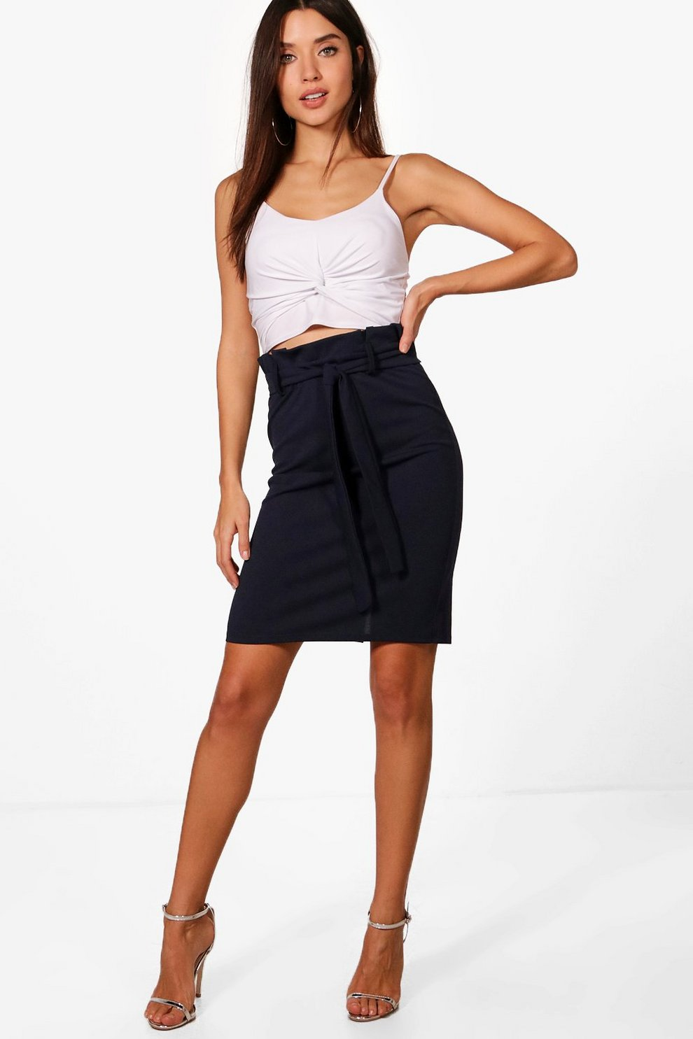 Boohoo Tailored Paper Waist Mini Skirt Purchase Cheap Outlet With Credit Card ashdEed