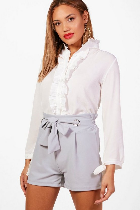 Taylor Tie Front Tailored Shorts