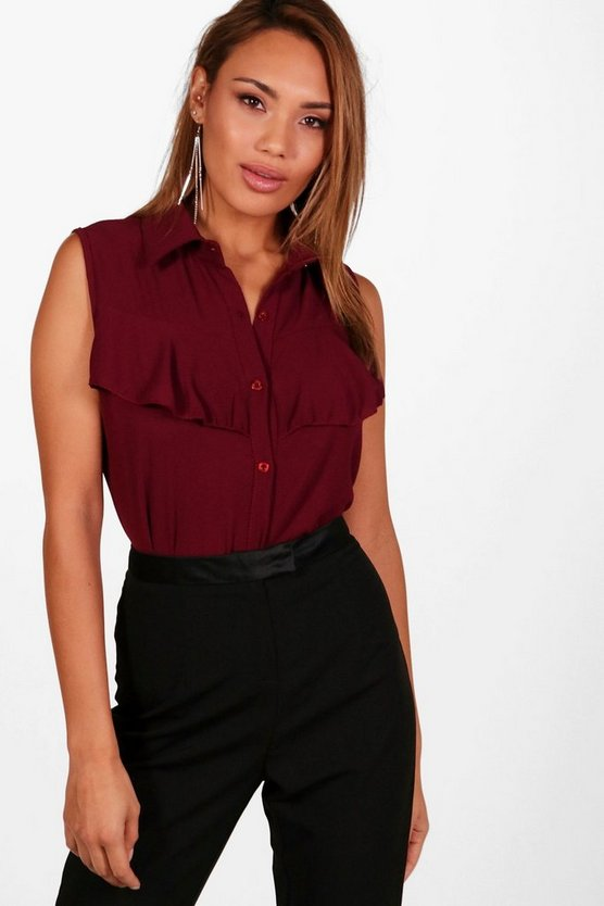 Rosie Ruffle Sleeveless Blouse