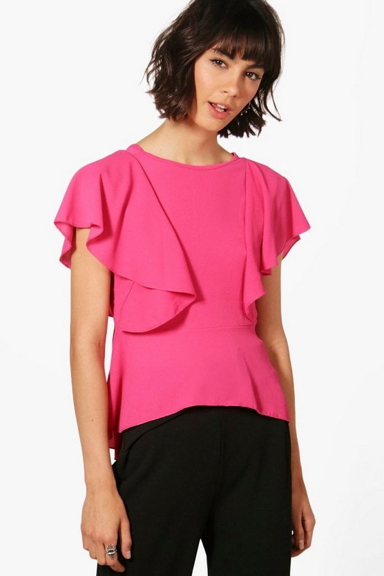 Aimee Frill Woven Top
