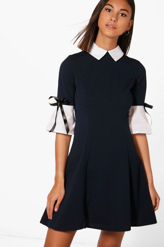 Sarah Shirt Collar Tailored Dress