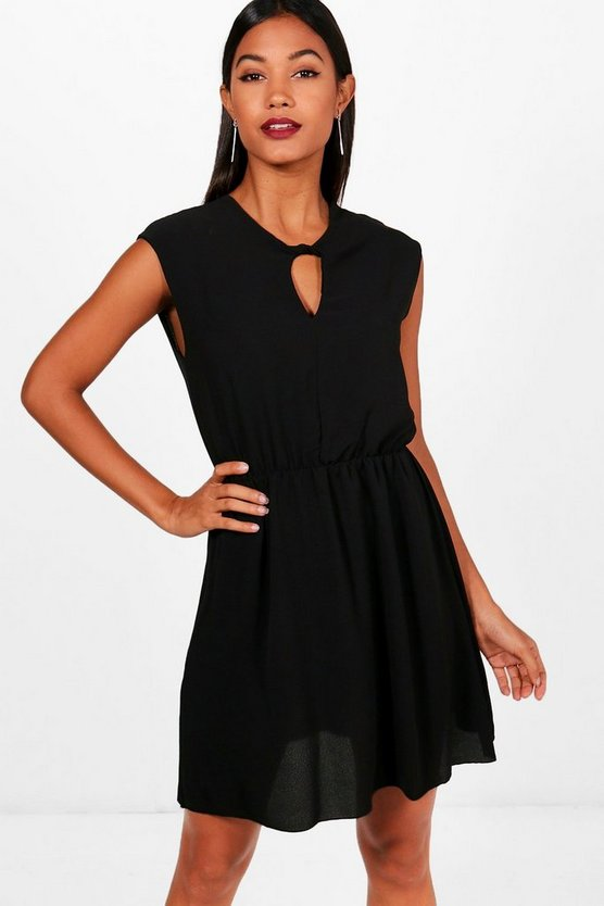 Kerry Keyhole Skater Dress