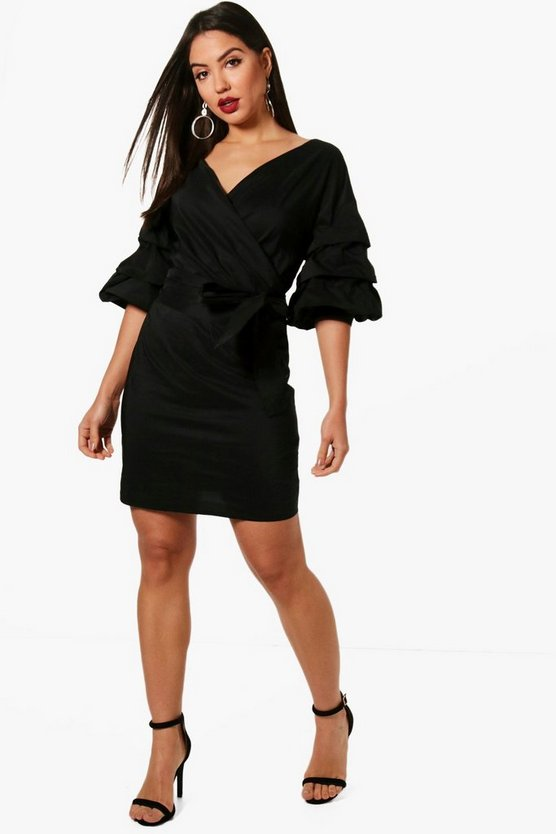 Louisa Ruffle Sleeve Shirt Dress