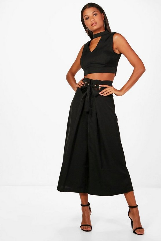 Maddie Choker and Wide Leg Culotte Co-ord