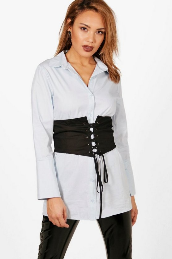 Polly Detachable Corset Belt Tailored Shirt