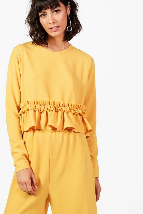 Millie Ruffle Woven Top