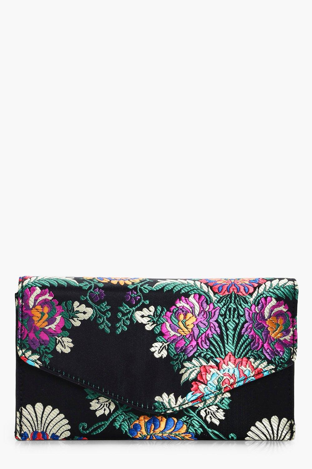 Oriental Embroidery Clutch - black - Ellie Orienta