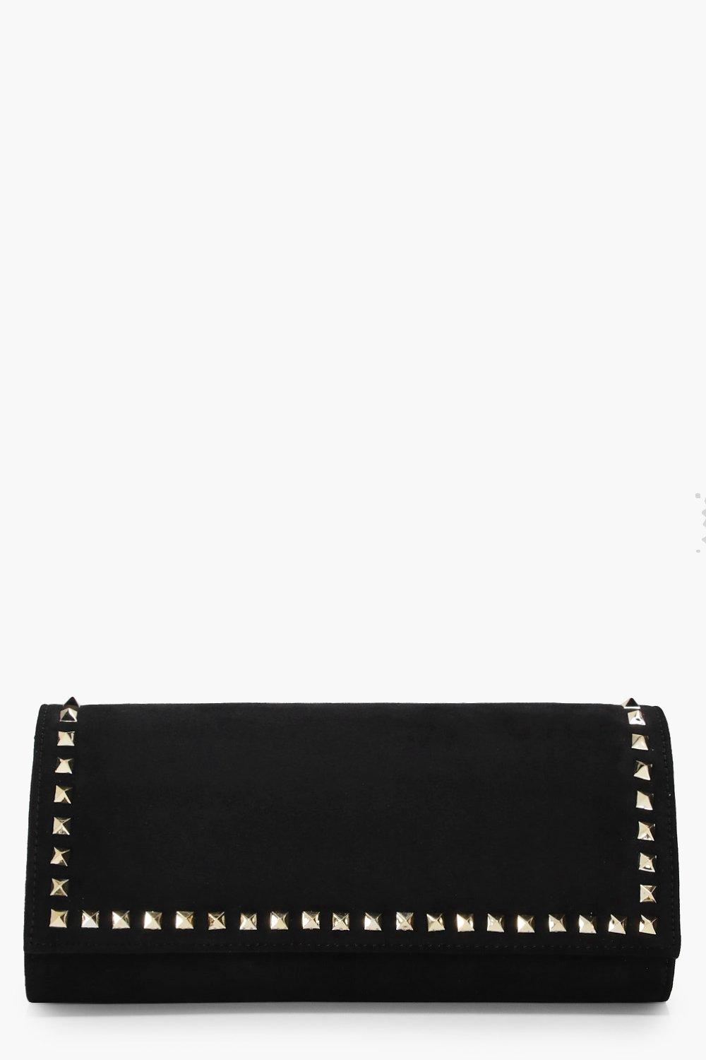 Studded Clutch - black - Erin Studded Clutch - bla
