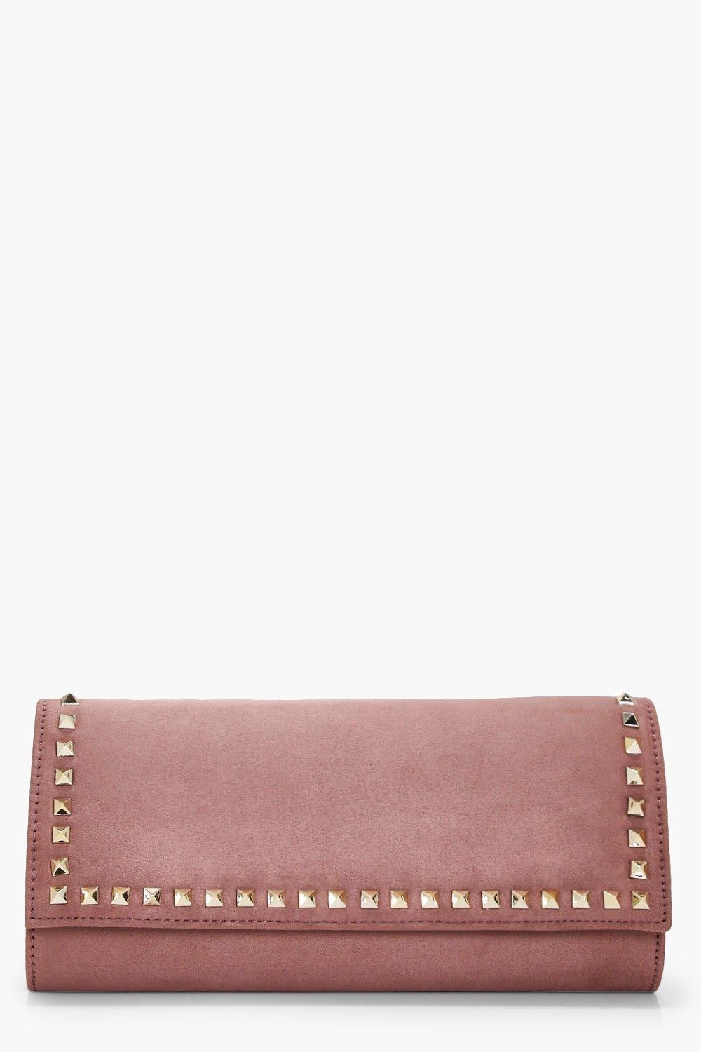 Studded Clutch - nude - Erin Studded Clutch - nude