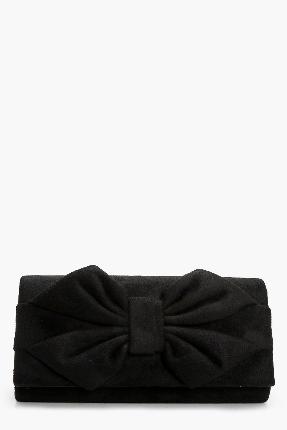 Bow Clutch - black - Daisy Bow Clutch - black