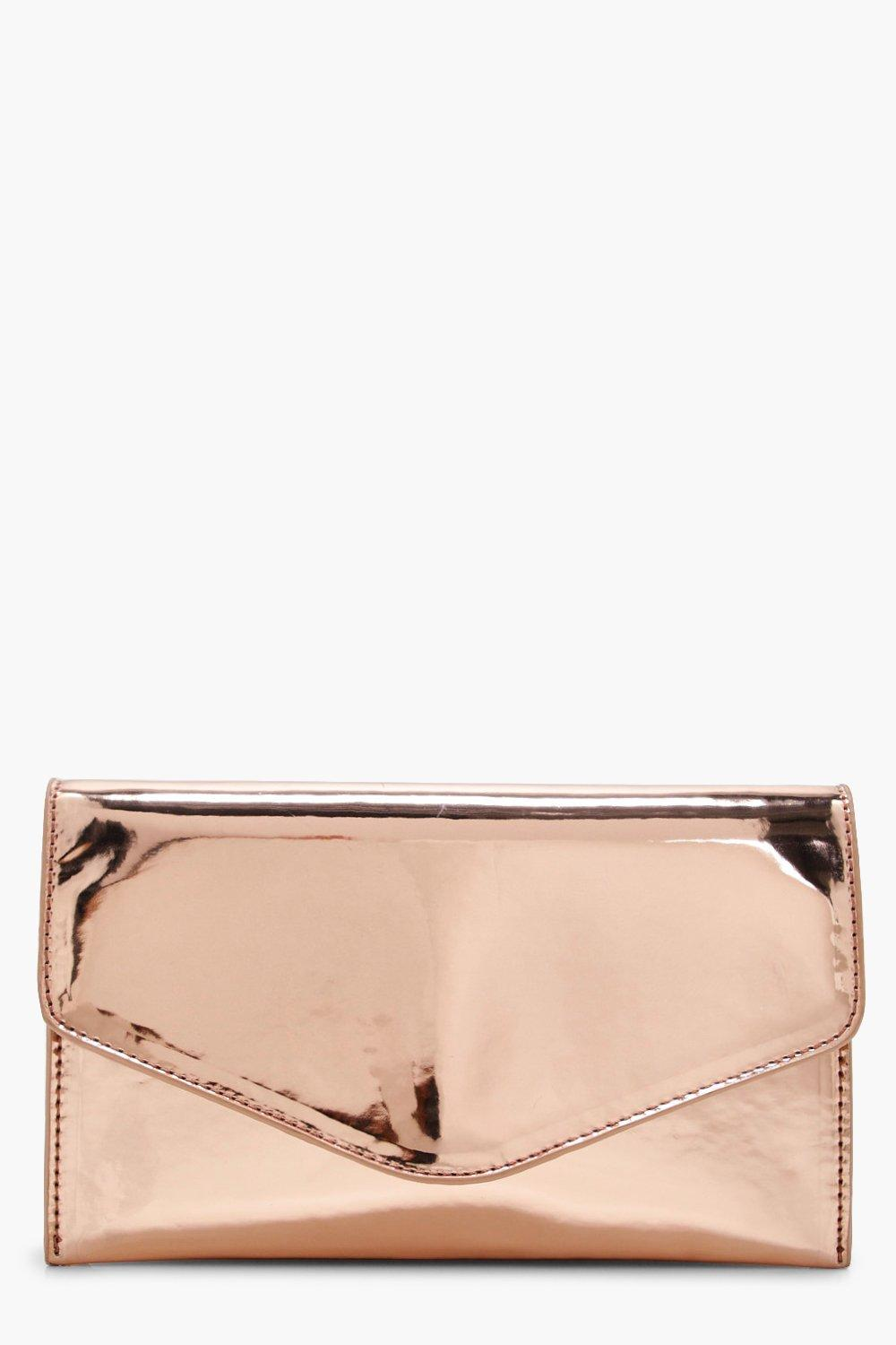 Metallic Clutch - rose - Faye Metallic Clutch - ro