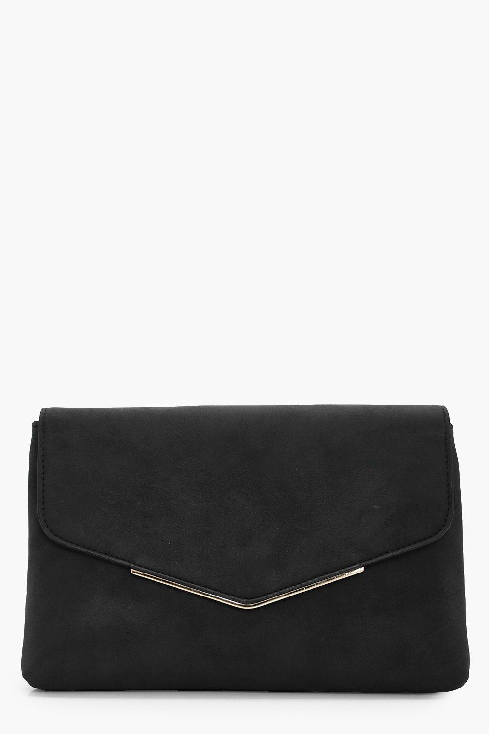 Suedette Bag Clutch - black - Isla Suedette Bag Cl