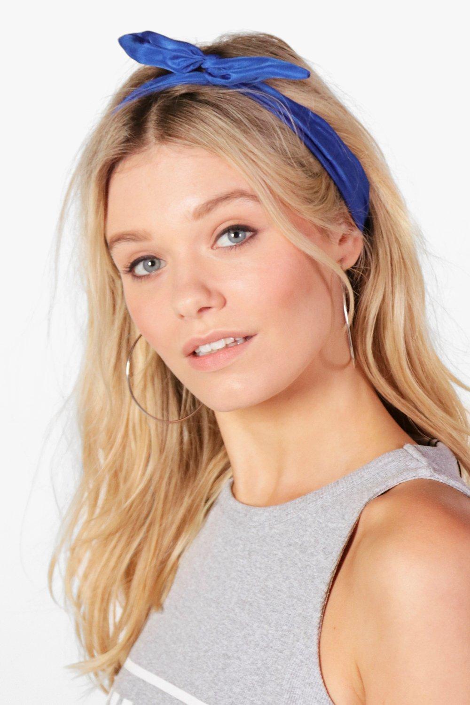 Bend Tie Headscarf - cobalt - Megan Bend Tie Heads