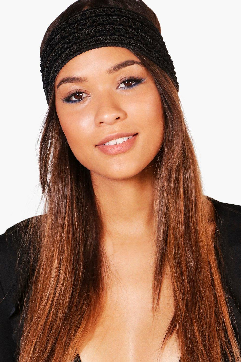 Plain Stretch Headband - black - Ellie Plain Stret