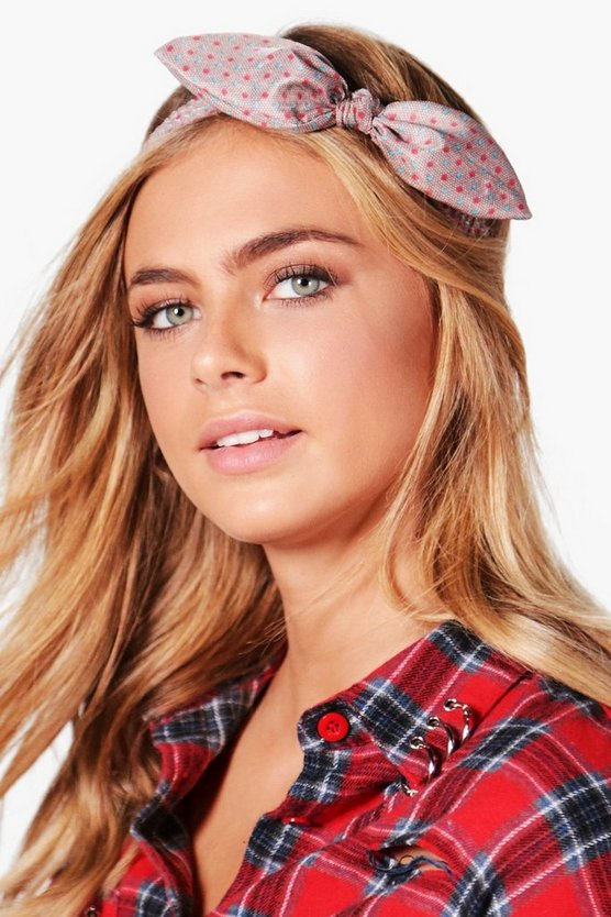Ella Printed Bow Headband