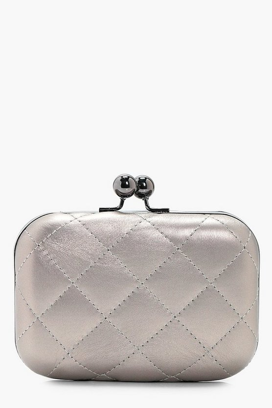 Anna Quilted Box Clutch