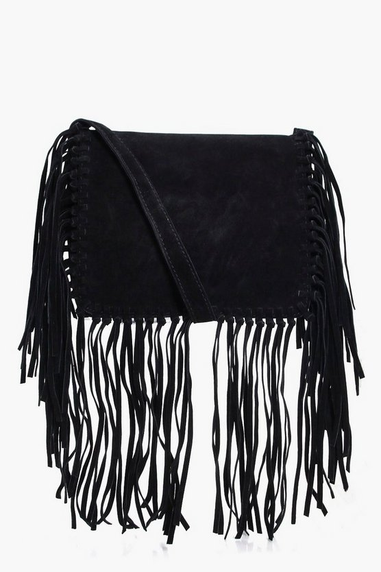 Sarah Fringed Detail Cross Body Bag