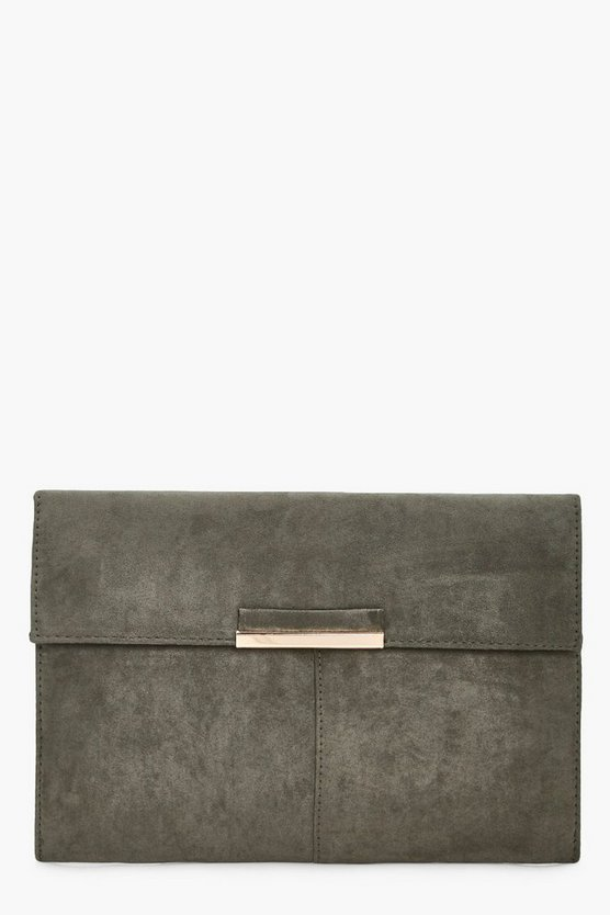Yasmin Suedette Coloured Clutch