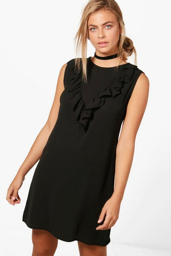 Nicola Ruffle Front Shift Dress