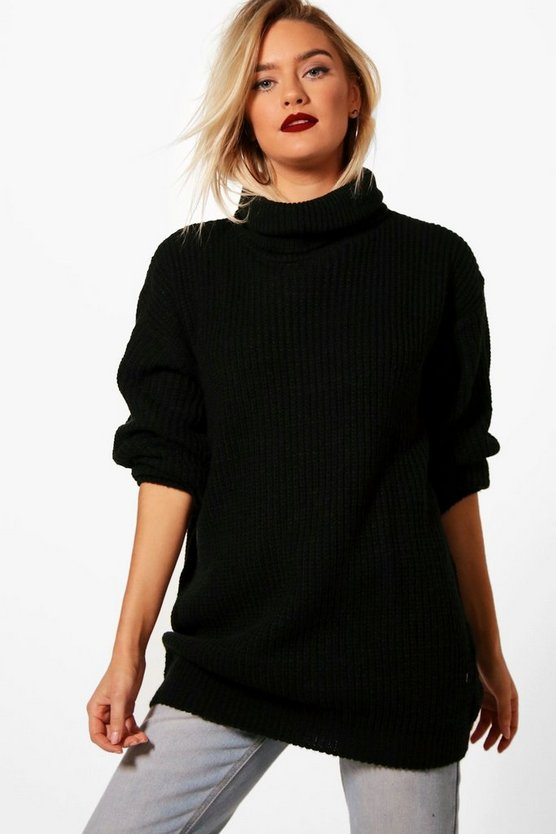 Kirstie Roll Neck Tunic Jumper