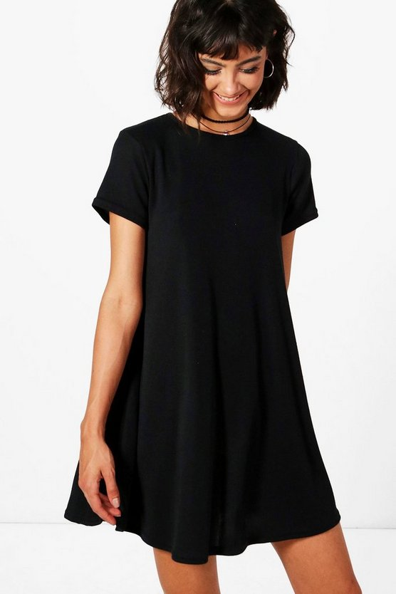 Hannah Short Sleeve Knitted Swing Dress