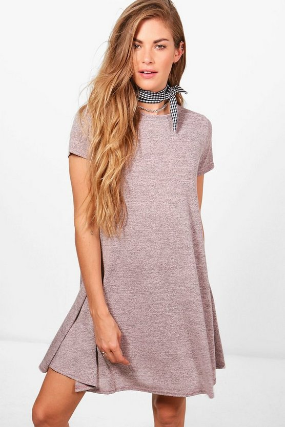 Amber Short sleeve Knitted Swing Dress