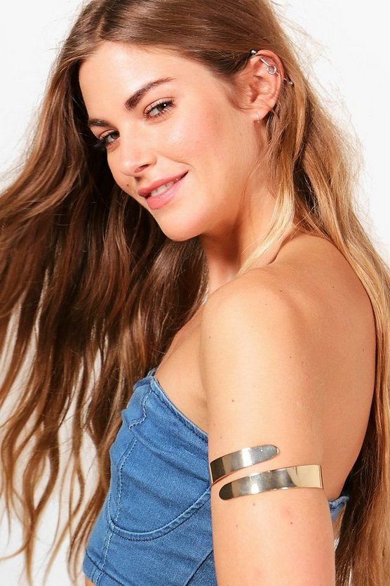 Charlotte Wide Band Simple Arm Cuff