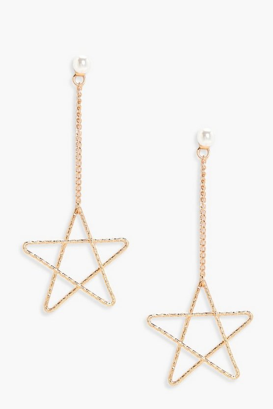 Kate Pearl Stud Star Drop Earrings