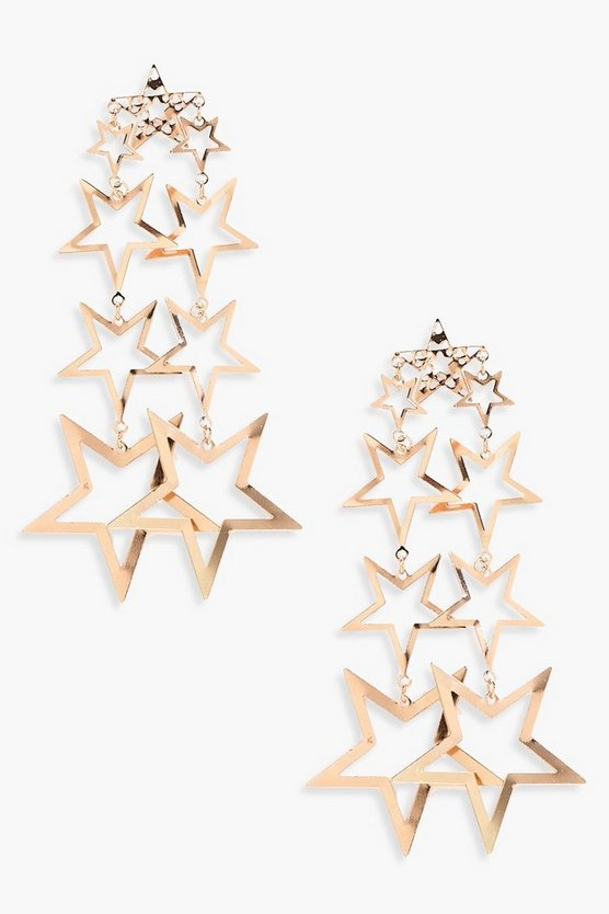 Amy Statement Star Tiered Earrings