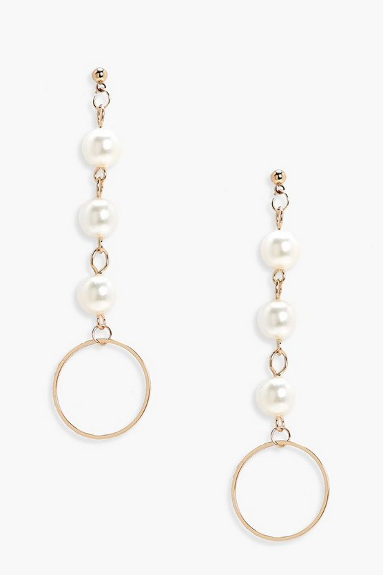 Rosie Pearl Drop Circle Earrings