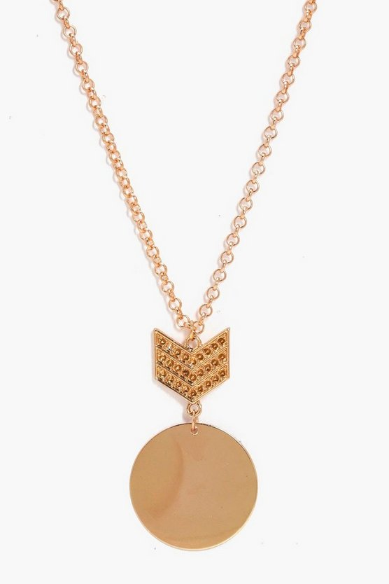 Camila Military Badge Detail Necklace