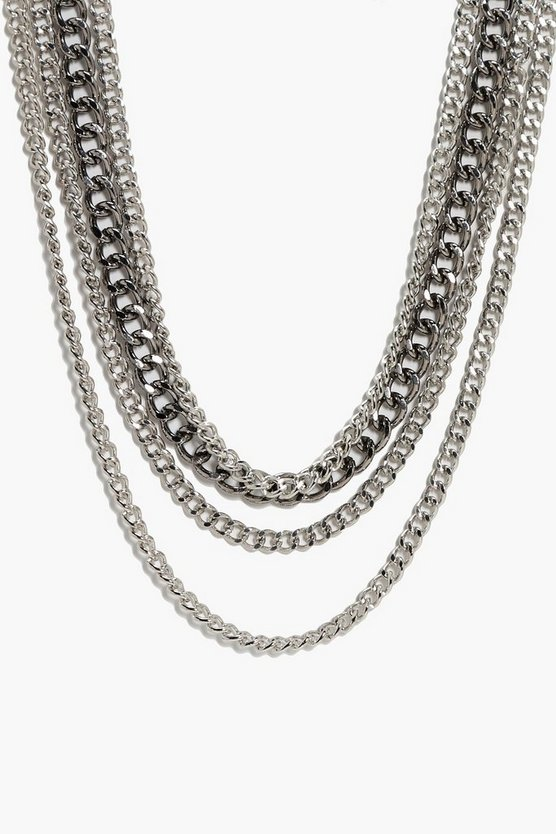 Avery Layered Punk Chain Necklace