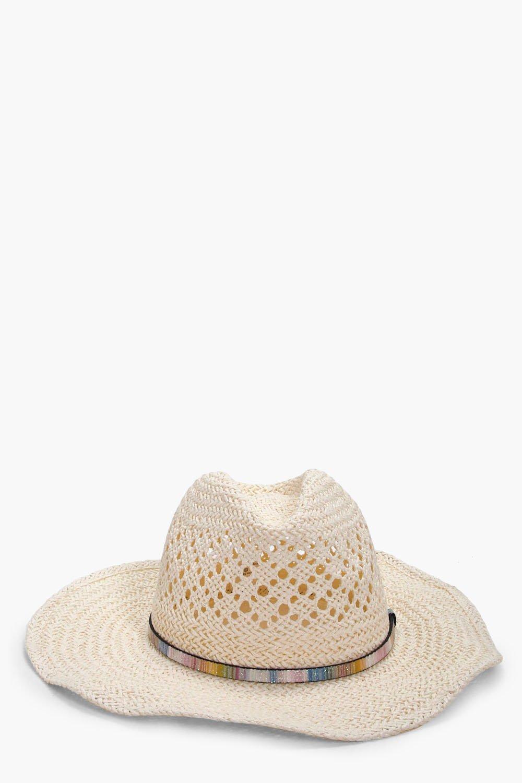Stetson Straw Hat - cream - Emma Stetson Straw Hat