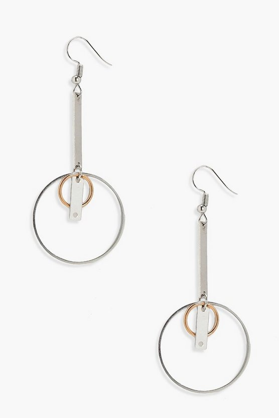Lois Layered Hoop and Bar Earrings