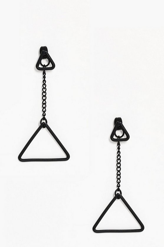 Ria Double Triangle Earrings