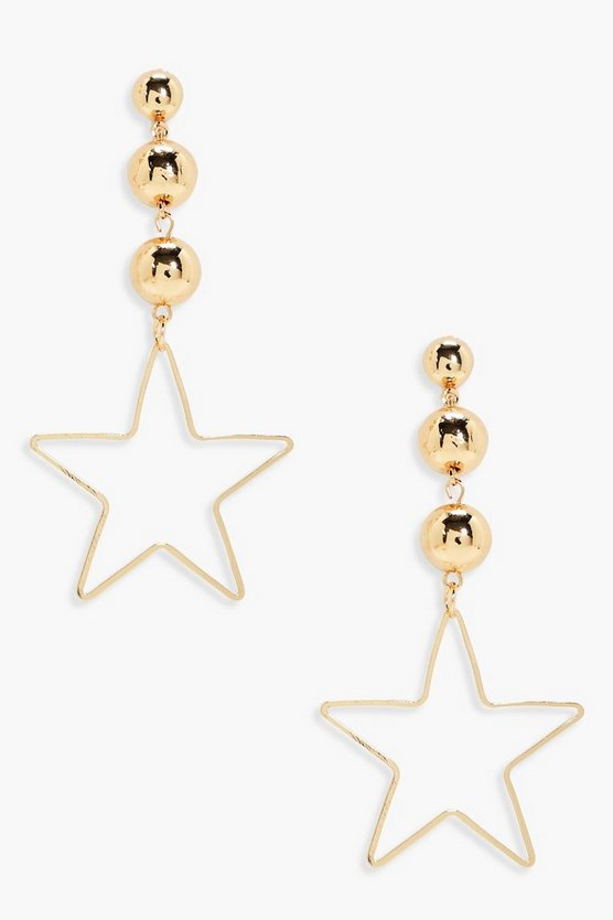 Laura Bead And Star Drop Earrings