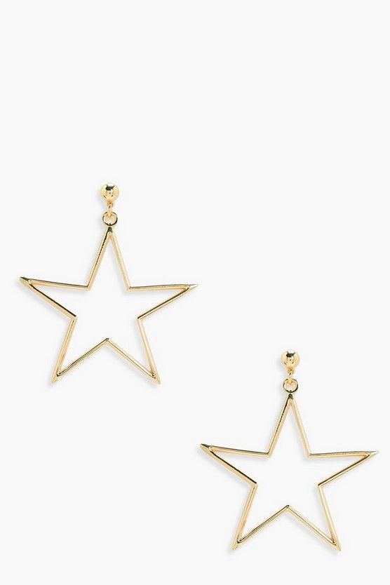 Florence Star Metal Ball Stud Earrings