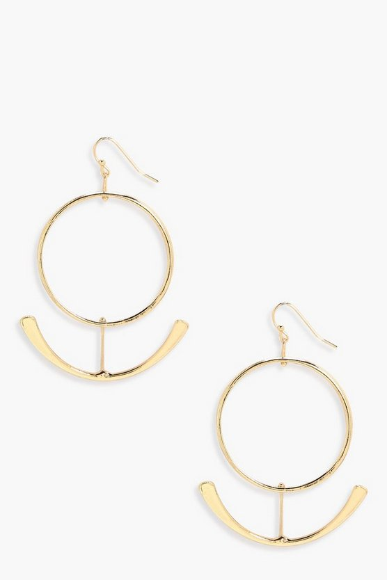 Ellie Hoop Arc Earrings