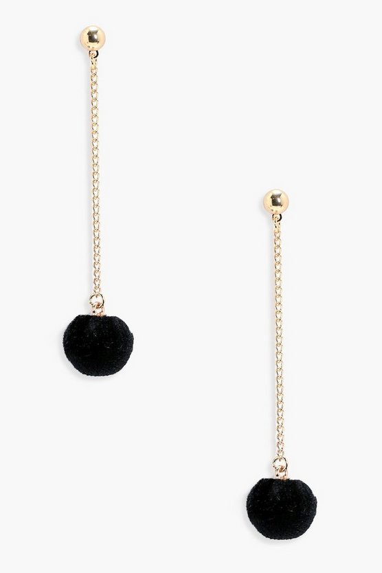 Eliza Pom Drop Earrings